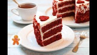 """Торт """"Красный Бархат"""" по Классическому Рецепту ✧ Red Velvet Cake (English Subtitles)"""