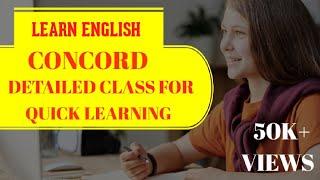 """LD CLERK 2017 :- """"CONCORD"""" III ENGLISH GRAMMAR III EASY MARK"""