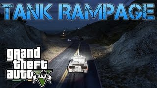 Grand Theft Auto V Challenges | STEALING A TANK,SINGING AND BUS SIEGE | PS3 HD Gameplay