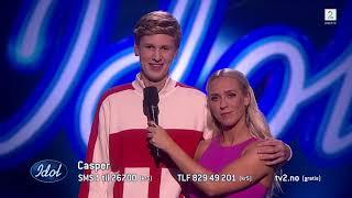 Casper slipper seg løs under sin opptreden av Let Me Love You | Idol Norge 2018