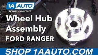 How to Install Replace Wheel Bearing Hub Assembly 4 Wheel Drive 2000-01 Ford Ranger