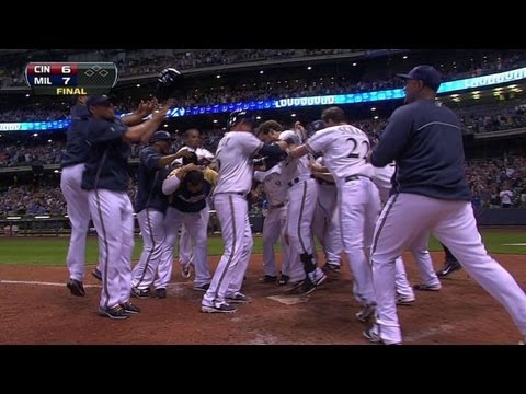 Lucroy crushes a mammoth walk-off home run