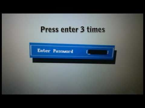 toshiba satellite bios password removal instructions
