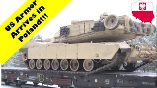 US Abrams Tanks Arrived in Swietozow, Poland