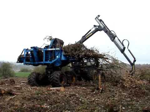 Kingwell Biomass Forestry Baler / Bundler For Site Clearance / Hire
