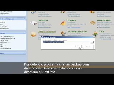 Cópias de segurança e restauro de base de dados