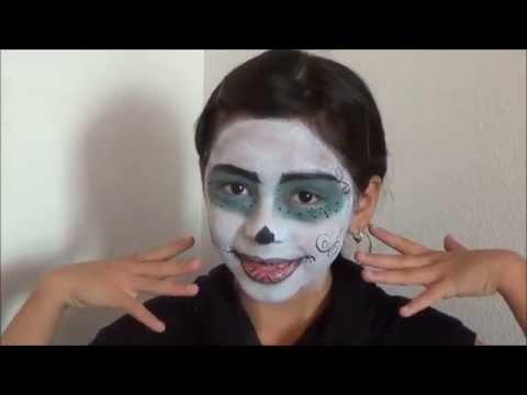 Skelita Calaveras Monster High Doll Makeup and Outfit Halloween tutorial 2013