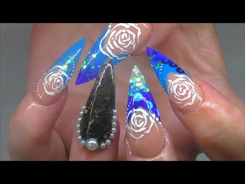 VOLCANIC BLACK SAND OCEAN PEARLS - ACRYLIC NAILS | ABSOLUTE NAILS