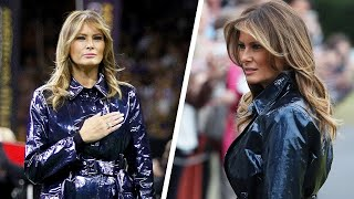 Is Melania Trump's Trench Coat Black or Blue?
