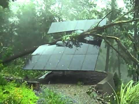 Solar Panels Destroyed by Tree