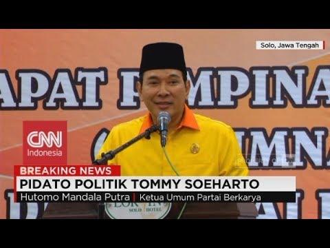 FULL Pidato Politik Tommy Soeharto Saat Menjadi Ketua Umum Partai Berkarya