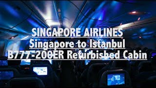 SINGAPORE AIRLINES | SINGAPORE TO ISTANBUL Economy Class REVIEW | Boeing 777-200ER SQ392 REFURBISHED