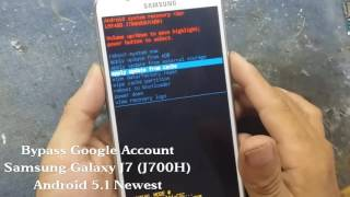 Bypass Google Account Samsung Galaxy J7 ( J700H ) with OTG