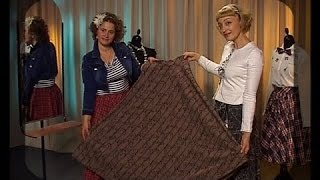 Sew the skirt pattern without any figure