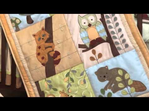 0 Lambs and Ivys Enchanted Forest 6 Pc Baby Crib Bedding Set | Ideal For A Boy or Girl