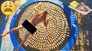 BELLY FLOP DIVING INTO 1000 MOUSE TRAPS!! (Trampoline Vs)