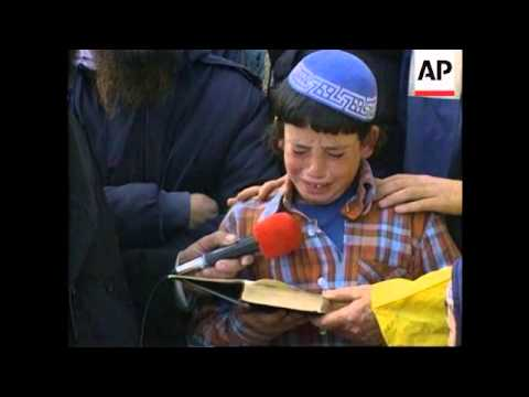 W.Bank/Israel - Funeral Of Killed Rabbi
