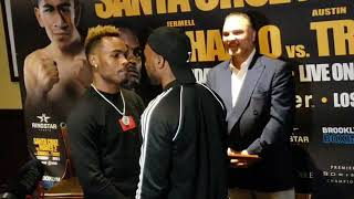CHARLO VS TROUT FACEOFF FOR THEIR WBC SUPER WELTERWEIGHT SHOWDOWN JUNE 9TH