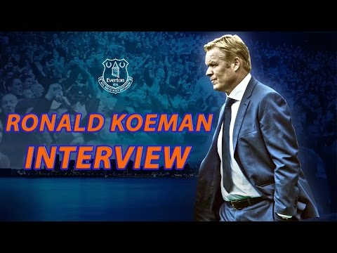 Ronald Koeman's First Everton Interview