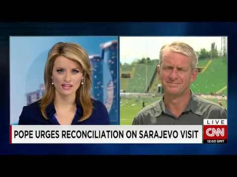 Pope in Sarajevo calling for a path to peace