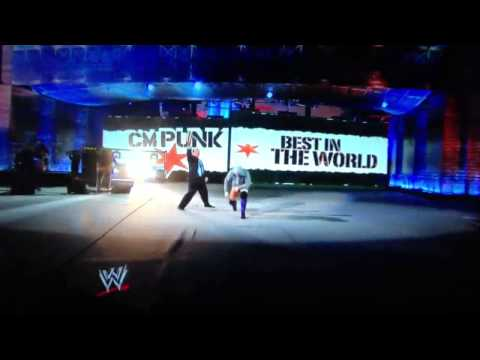 WWE CM PUNK special entrance live wrestlemania 29  high quality...