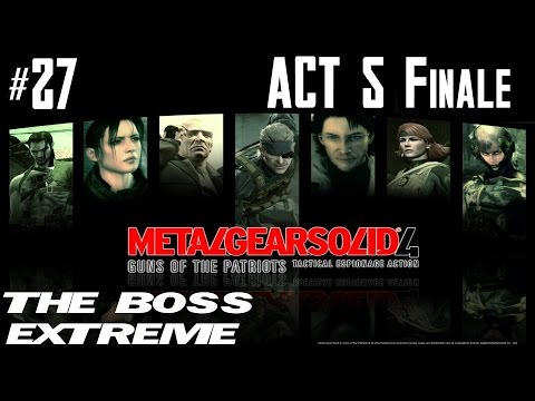 Metal Gear Solid 4 - The Boss Extreme Walkthrough - Part 27 - Act 5 - Old Sun - Finale video