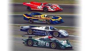 Porsche 917 962c 91730 and 996 GT1 Zandvoort demo