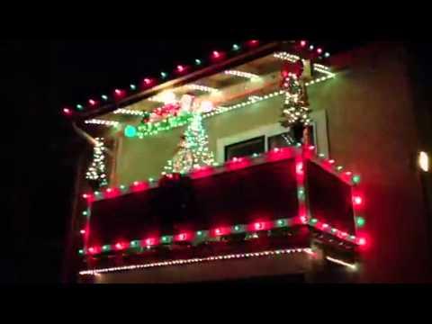 Apartment christmas lights youtube for Apartment balcony christmas decoration ideas