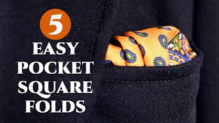 How to Fold a Pocket Square 5 Quick & Easy Ways to Fold Handkerchiefs