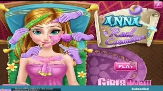 Frozen Anna Real Cosmetics Makeup Video Game - Girl baby Games