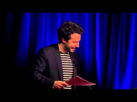 Portrait d'Arnaud Montebourg par Mathias Chichportich à la Berryer de la Mutualité 11 décembre 2014