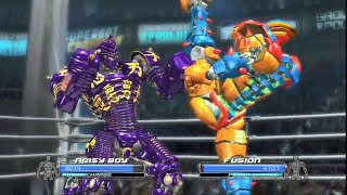 REAL STEEL THE VIDEO GAME - NOISY BOY vs FUSION (KARATE ROBOT)