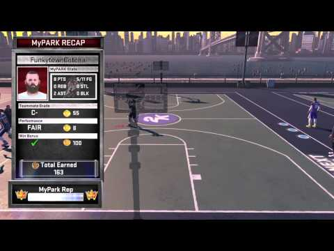 NBA 2K15 Game win dunk with backflip