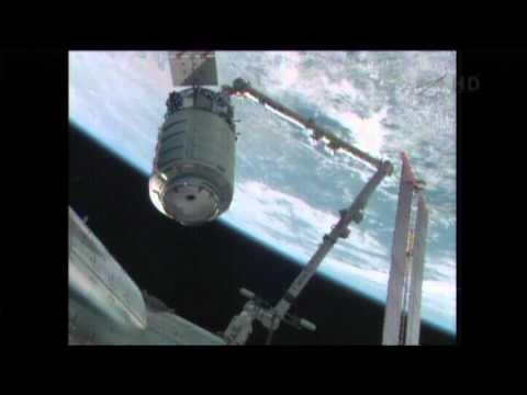 Orbital Sciences Cygnus Rendezvous, Grapple, & Berthing (time lapse)