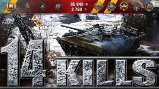 14 фрагов на 9 уровне Strv 103-0  World of Tanks