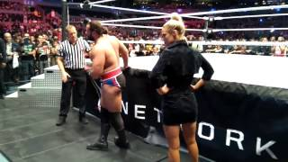 WWE LIVE MÉXICO 2016 BROCK LESNAR VS RUSEV