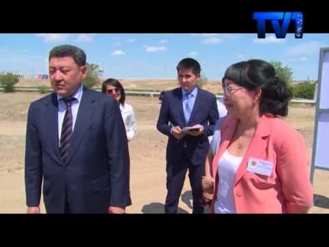 Аким Карагандинской области Ерлан Кошанов с рабочей поездкой посетил город Жезказган.