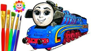 How to Draw Train FRIEDA Great Race Thomas and Friends Painting For Kids to Learn Color with Paint