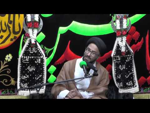 Majlis-Night Of 9th  Muharram 1438 By Maulana Syed Moosa Raza Naqvi In Darbar-e-Masoomeen.