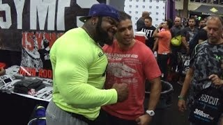 "Keven ""Da Hulk"" Washington attracting a large crowd"