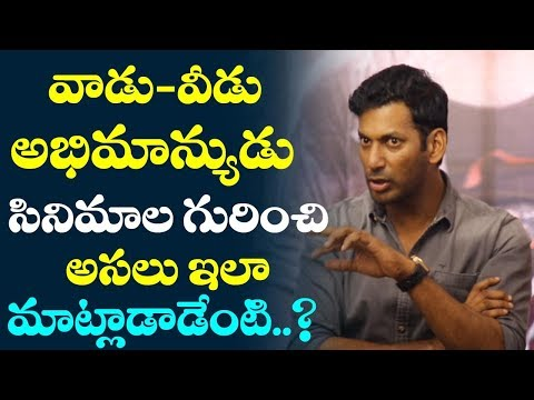 Hero Vishal About VAADU VEEDU  & Abhimanyudu  Movies | Interview | Film Jalsa