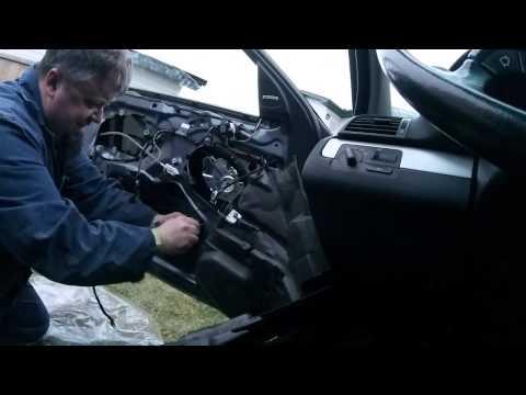 Removing BMW Door Panel & Replacing Window Regulator