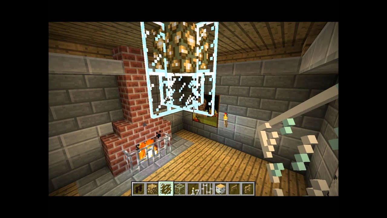 Minecraft Tutorial 1 Ceiling Fan And Chandeliers Youtube