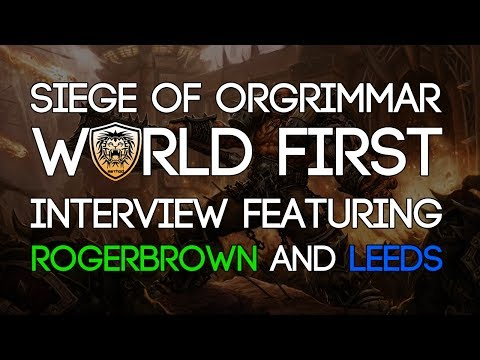 Fatboss have a lengthy chat with Rogerbrown and Leeds from Method, in which they discuss the journey to world first, the raiding scene and the Siege of Orgri...