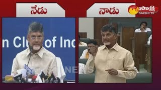 CM Chandrababu Double Standard Comments on AP Special Status
