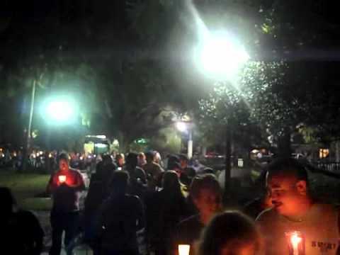 0 Gay Teen Suicide Candle Light Vigil, Lake Eola, Orlando 10 20 2010