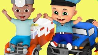 Monster Trucks Racing - Car toy videos for kids, Police chase - Surprise eggs - jugnu kids
