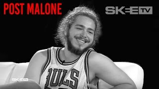 Post Malone Talks Blowing Up, Collab w/ Kanye, Bieber & Kylie Jenner in First TV Interview - SKEE TV