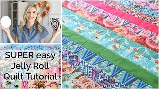 Easy Beginner Quilting Tutorial with a Jelly Roll