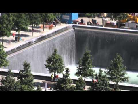 WTC Memorial North Pool flowing